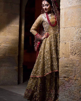 Latest Bridal Walima Dresses Collection 2016-17 for Wedding