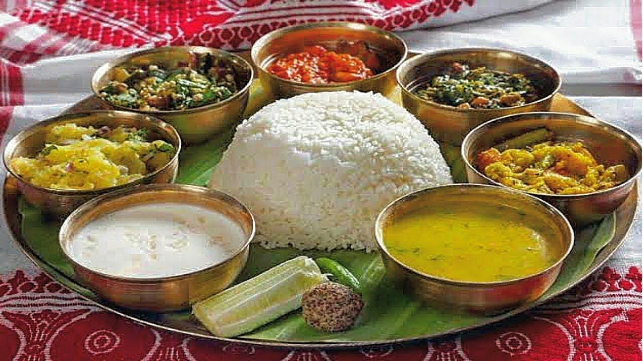 Assamese Society Traditional Non-Vegetarian Thali