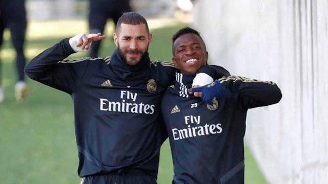 Karim Benzema and Vinicius Jr.