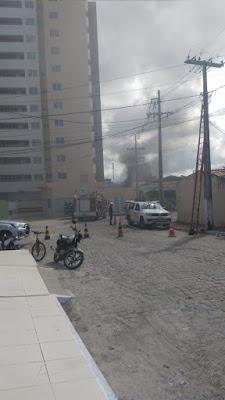 Princípio de incêndio atinge Condomínio no bairro,próximo ao Clube dos 100 em Santo Antônio de Jesus