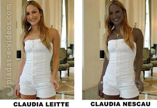 Claudia leite x Claudia nescau