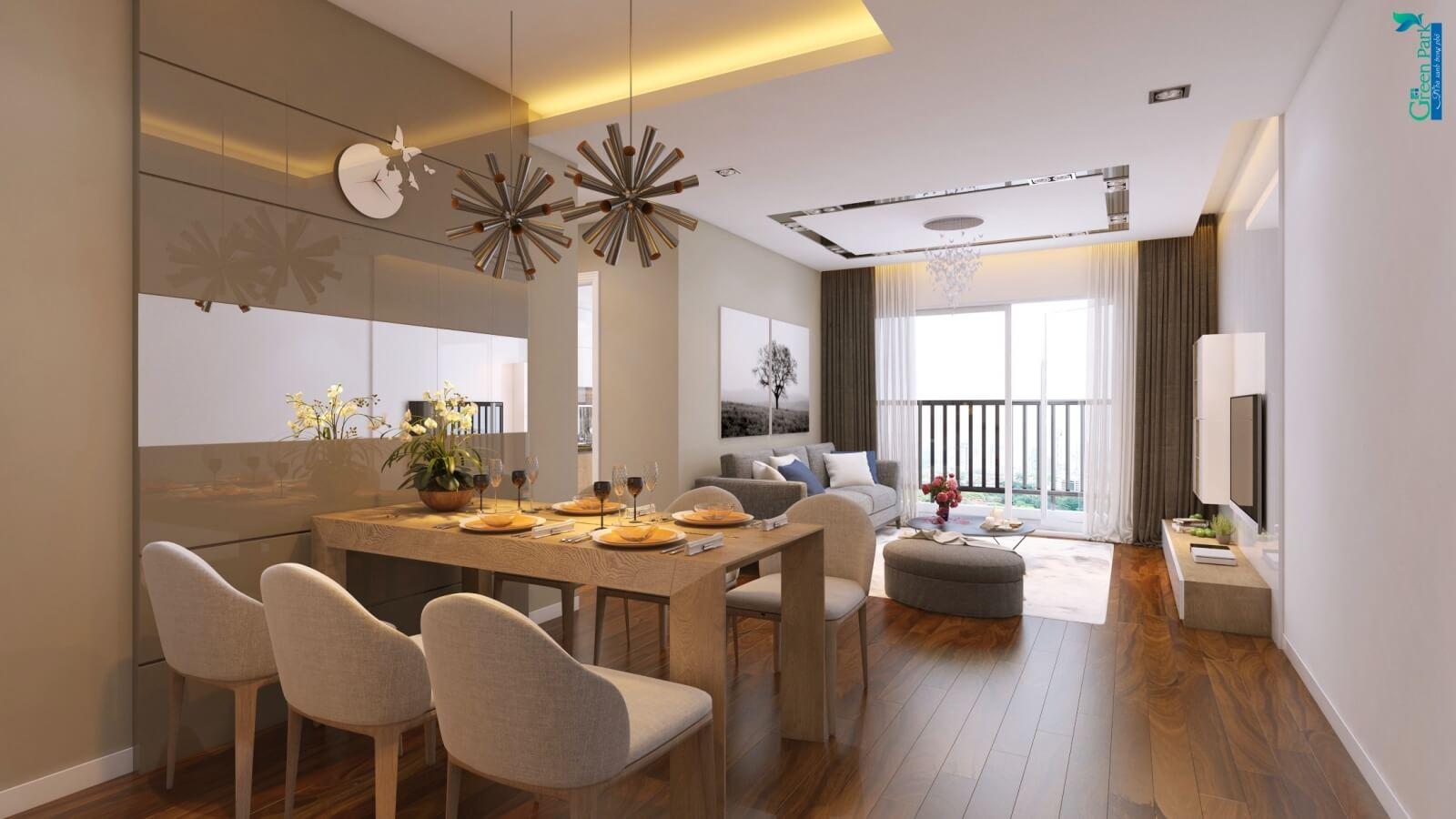 Nội thất căn hộ cao cấp Phương Đông Green Park