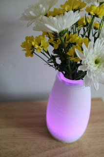 purple light up vase
