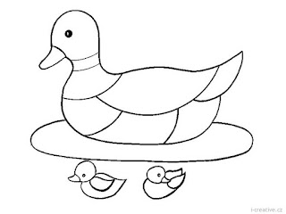Duck And Baby Duck Coloring Pages For Kids