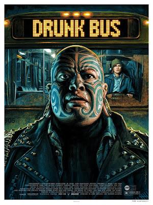 Drunk Bus Screen Print by Jason Edmiston x Mondo