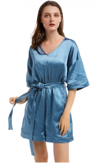 5 Chic and Classy Clothes for Fall 2020 - Luscious Curvy Aqua Short Sleeve Jumpsuit Tie Waist For Vacation