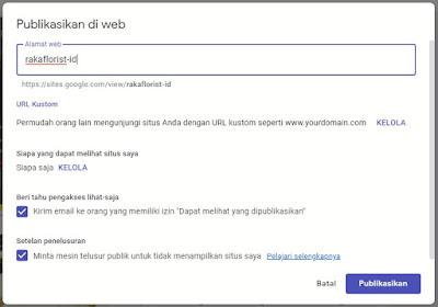 Publikasi Website Google Sites