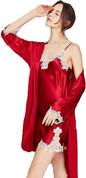 Red Silk Robes For Women