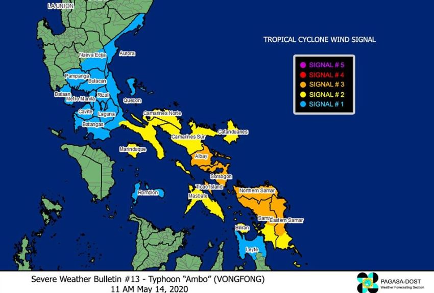 'Bagyong Ambo' PAGASA weather update May 14, 2020