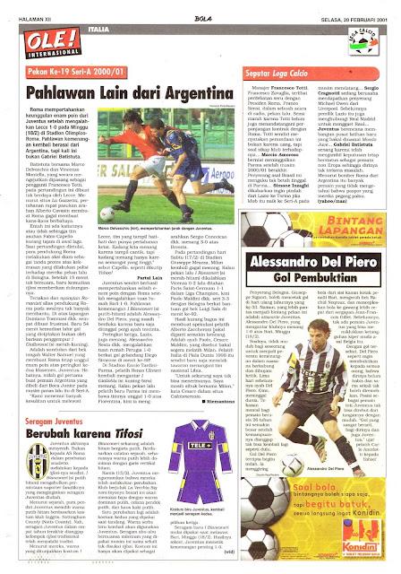 PEKAN KE-19 SERI A 2000/01 PAHLAWAN LAIN DARI ARGENTINA