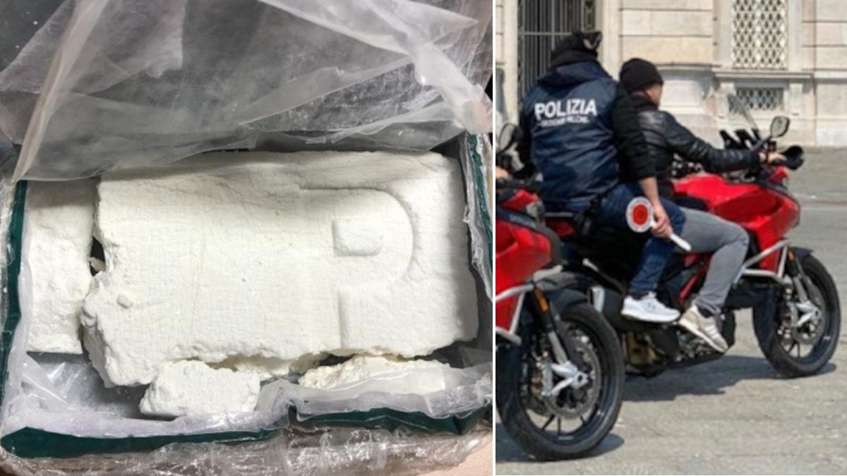 Falchi Polizia di Stato sequestro record 1.600 grammi cocaina