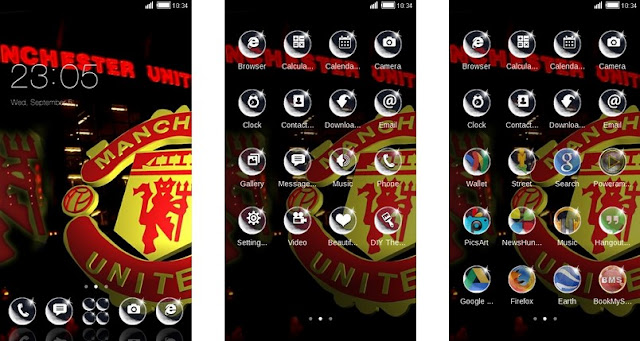Tema Manchester United Android - Black