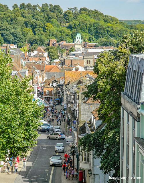 Winchester, Inglaterra, vista da torre do Westgate