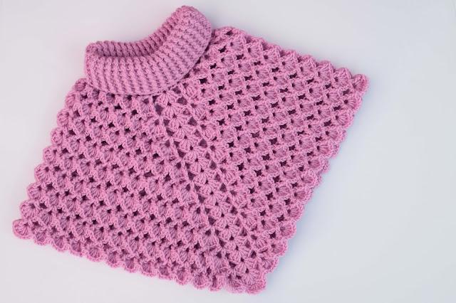 5-Crochet Imagenes Poncho cuello de tortuga a crochet y ganchillo por Majovel Crochet