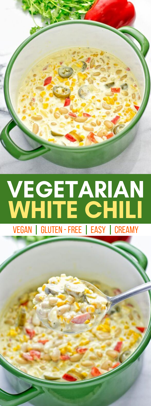 VEGETARIAN WHITE CHILI #vegan #glutenfree
