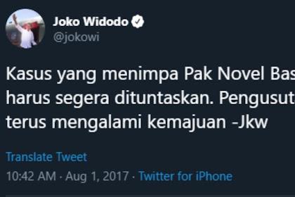 Jokowi: Kasus Novel Jangan Dikembalikan ke Saya Lagi