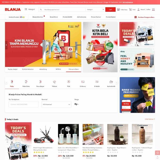 Situs Blanja.com Ditutup?
