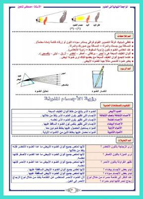مراجعة نهائية علوم للصف الخامس الابتدائي