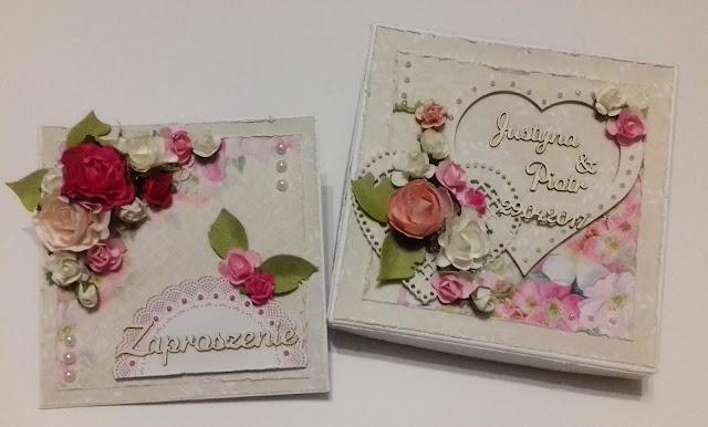 Różane zaproszenia