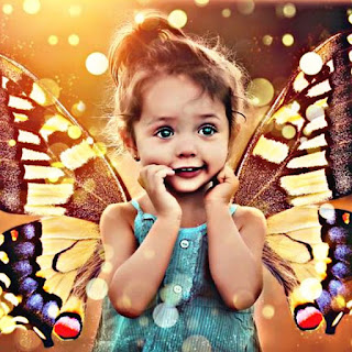 cute baby girl images with sweet smile photo