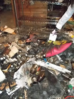 Burned-out basement