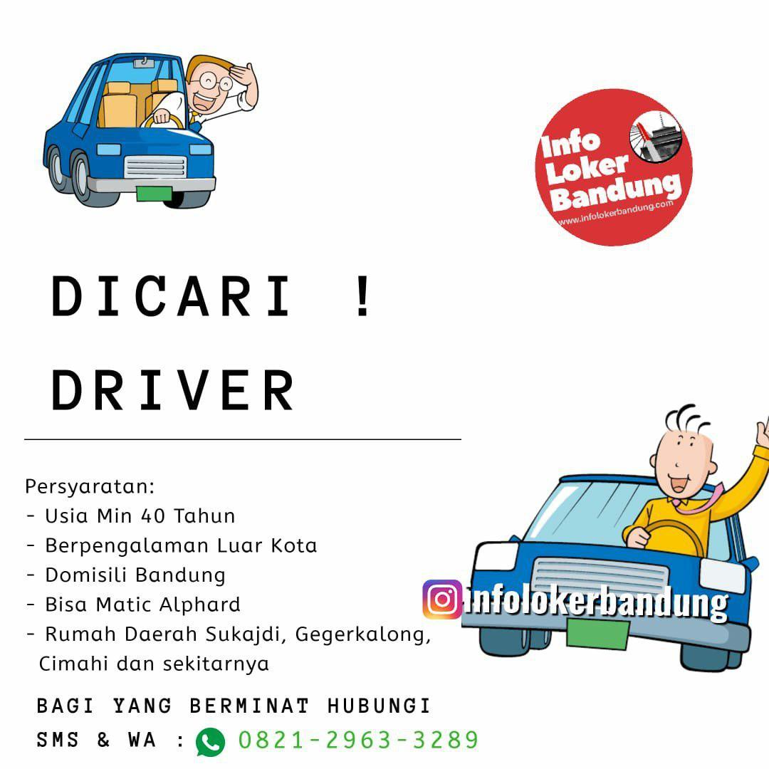 Lowongan Kerja Driver Bandung Juni 2019