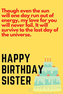 lovely birthday wishes for sister