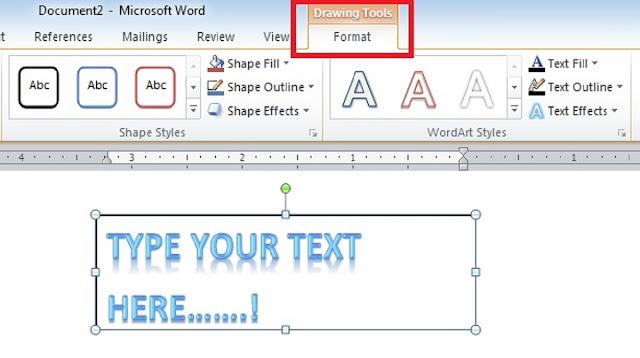 Cara Melengkungkan Tulisan di Word