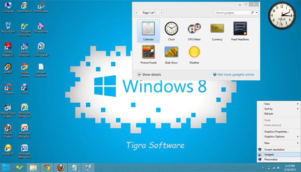 Window 8 desktop gadgets free download