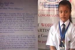 Bocah 8 Tahun Ini Disebut Punya Tulisan Tangan Tercantik di Dunia