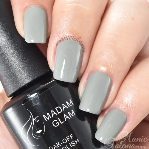 Madam Glam Gel Polish Sophisticated Grey Swatch
