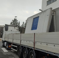 transporte de la caseta prefabricada