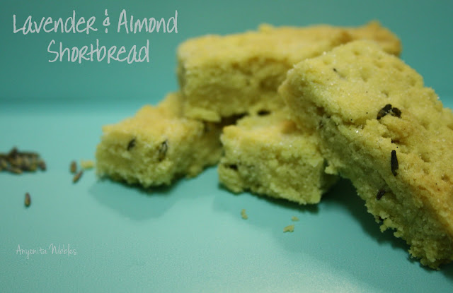 five ingredient lavender and almond shortbread cookies