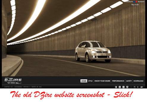 POWERING BRANDS: Brand Website: Maruti Suzuki Swift DZire