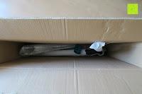 Blick in die Verpackung: STAR-SCOOTER® Premium Freestyle Stuntscooter in stabiler Leichtbauweise ★ Modell 2016 ★ 110mm Semi Professional Edition ★ Weiß (matt) & Blau