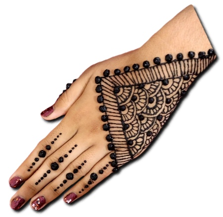 Back Hand Mehndi Design Stylish