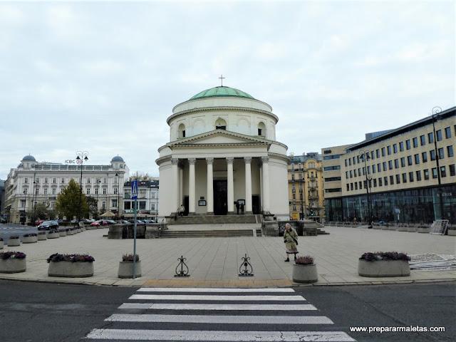 plaza de las Tres Cruces, ruta real de Varsovia