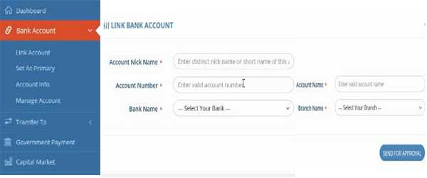 add bank account