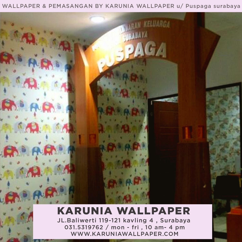 pasang wallpaper dinding anak lucu