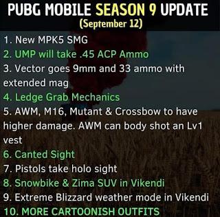 Ada apa saja di Season 9 PUBG Mobile? Ini bocorannya!
