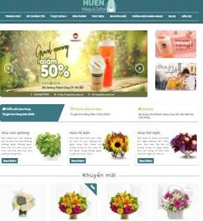 Giao diện Web bán Hoa cho cửa hàng - Theme blogspot - Blogspotdep.com