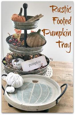 Pinterest pin with tiered tray and round tray