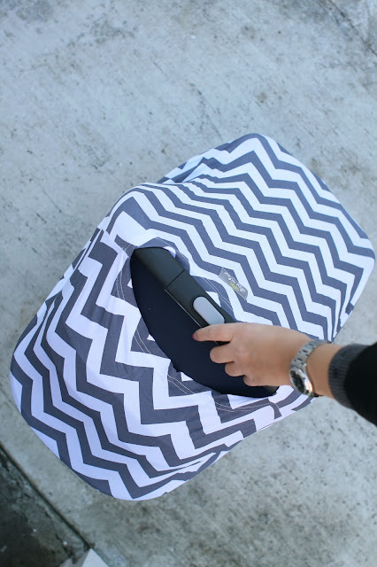 Itzy Ritzy, Car seat cover, Baby, New Mom, Newborn, Chevron print, Baby gear