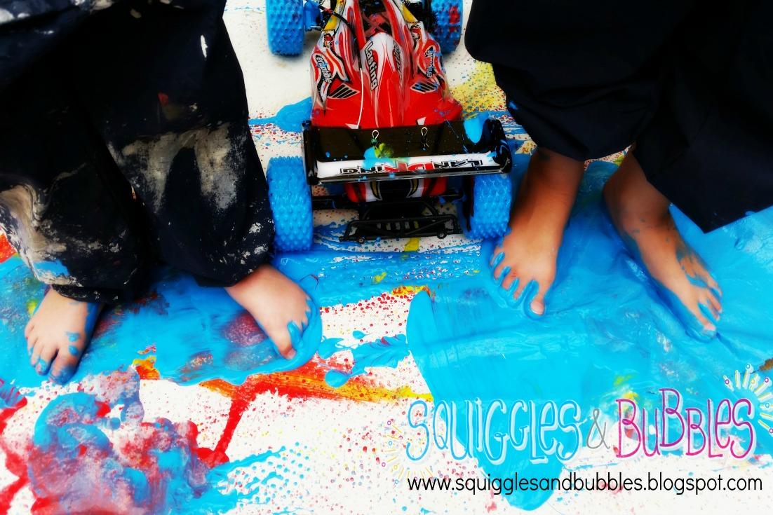 http://squigglesandbubbles.blogspot.com.au/2015/03/remote-control-vehicle-painting.html