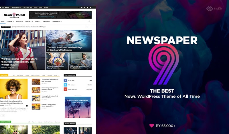 Newspaper Wordpress Theme 9.8 - Stressthinking