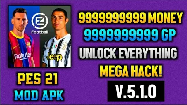 eFootball PES 2021  New Apk | V.5.1.0 | eFootball PES 2021 Trick | Unlimited Money 100% Working