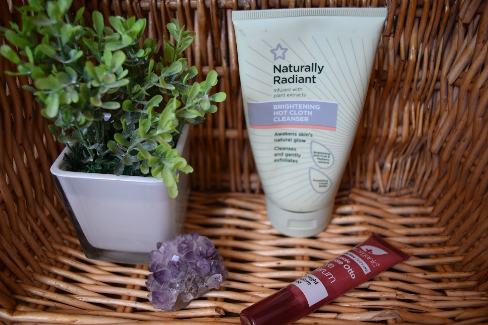 superdrug, hot cloth cleanser, dr organic, skincare, serum, dark circles, review, skincare routine