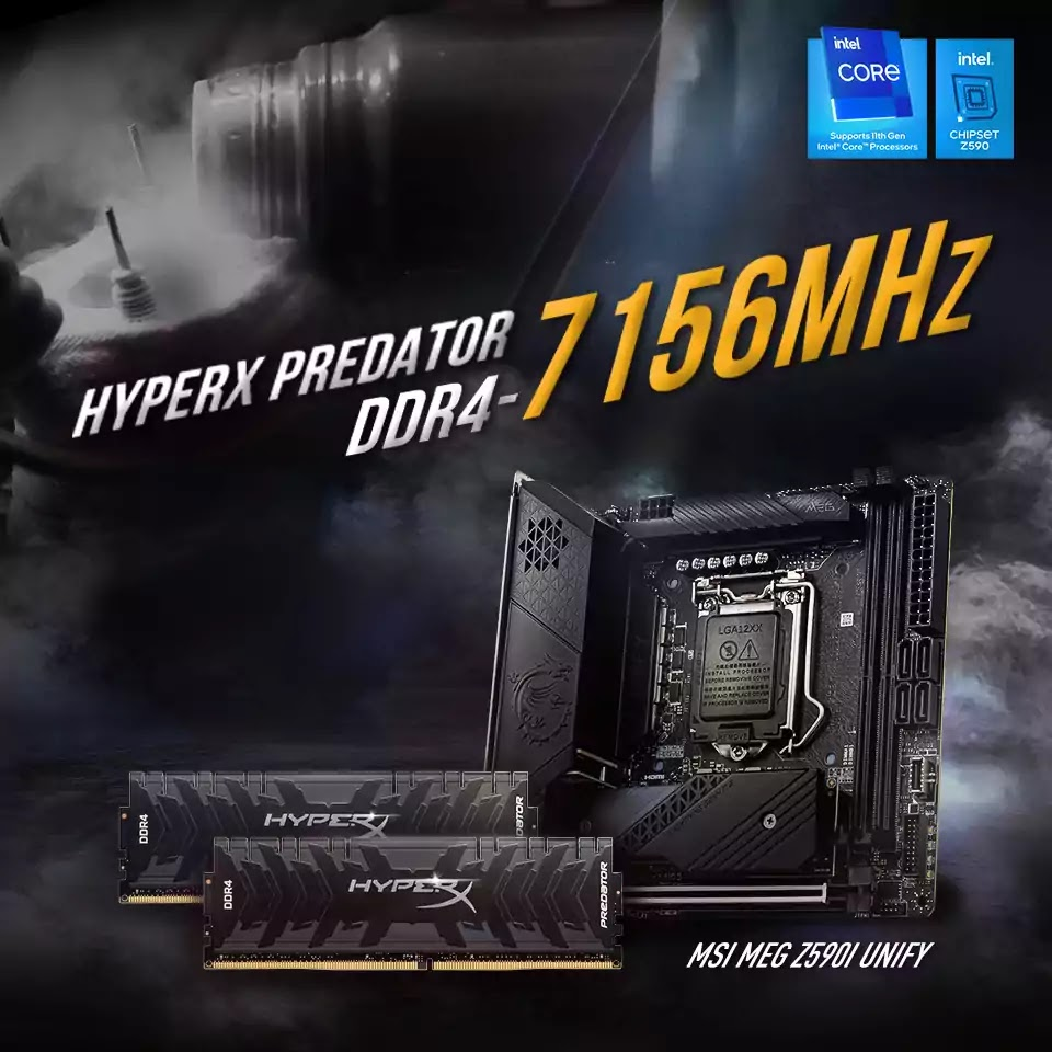 Kingston HyperX Sets DDR4 Overclocking World Record