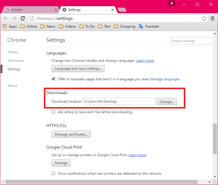 firefox android ask download location