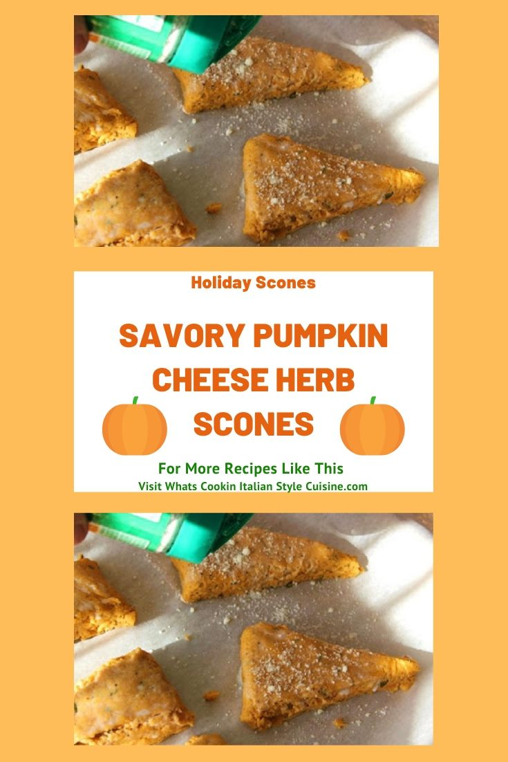 this is a pin for later how to make pumpkin savory scones recipe